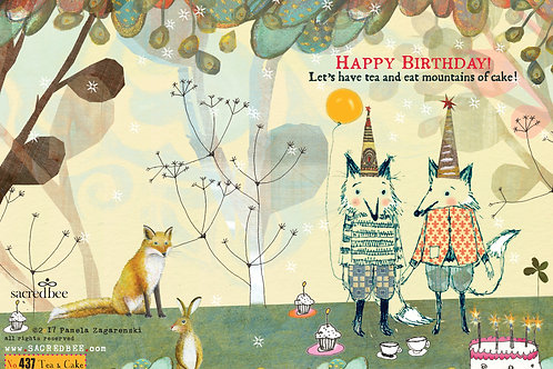 437 Tea & Cake sacredbee Greeting Card