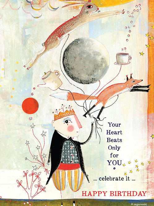 501 Heart Beats - Sacredbee greeting card