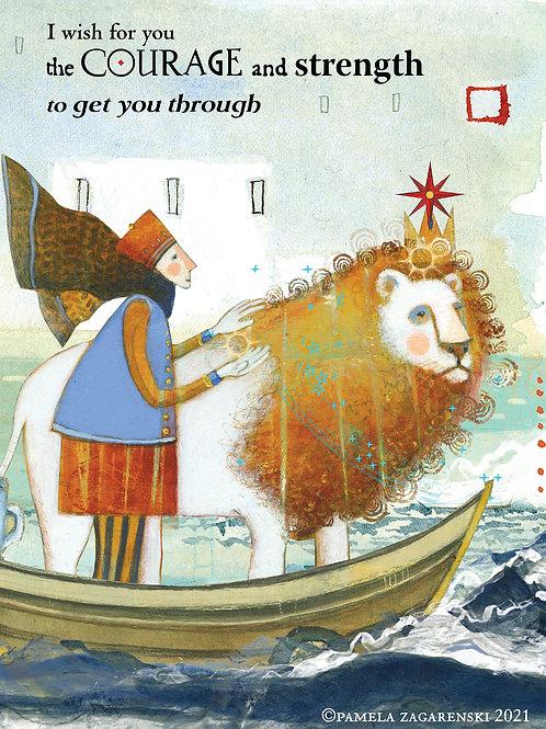 436 Courage Sacredbee Greeting Card
