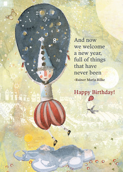 496 Your New Year Birthday Card