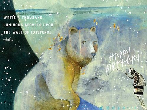 209 Luminous Secrets Sacredbee Greeting Card