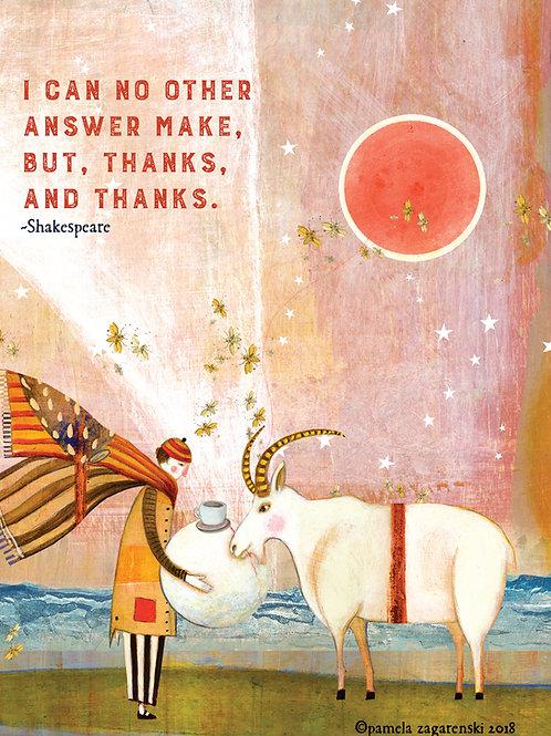 446 Thanks & Thanks Sacredbee Greeting card