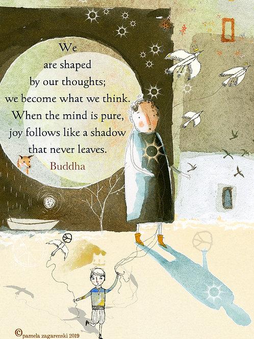 512 - Buddha's Shadow Sacredbee greeting card
