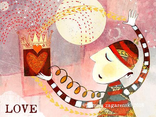 489 Love Sacredbee Greeting Card