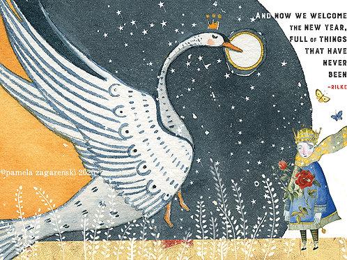 364 Welcome New Year Sacredbee Greeting Card