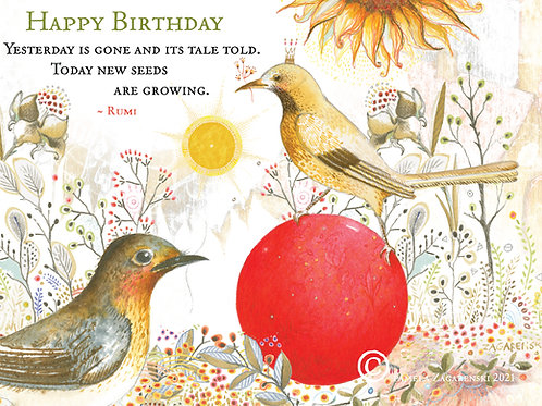 547 Rumi's Birthday Sacredbee Greeting Card