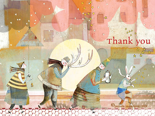 476 Thank You Dance Sacredbee Greeting Card