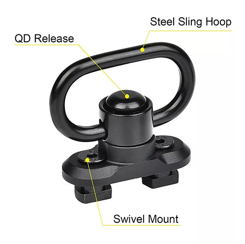 Anilleta y Base Giratoria Desmontable QD Porta Fusil Mlock