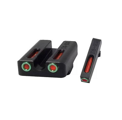 Miras De Fibra Optica Doble Para Glock
