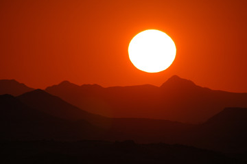 Deep Red Sunset, Namibia - 2007