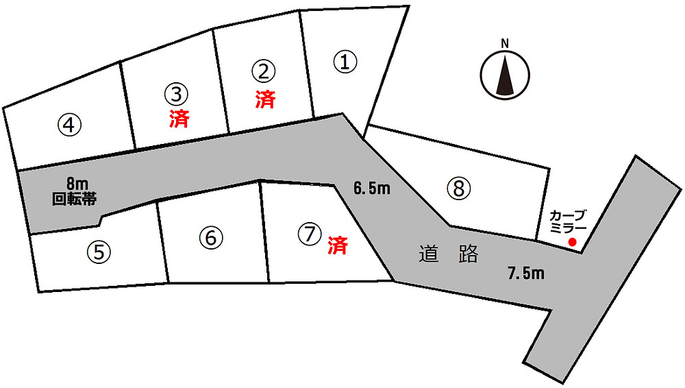 大野山下区画割図