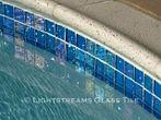American made Lightstreams Glass Tile Renaissance Collection Aqua Blue tile for waterline tile, pool tile, and spa tile