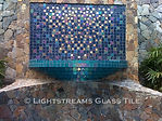 American made Lightstreams Glass Tile all glass tile pool in Renaissance Collection Turquoise blue glass pool tile