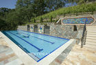American made Lightstrems Glass Tile pool tile and spa tile for the pool waterline and spa waterline and step markers