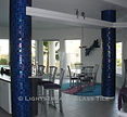 American Made Lightstreams Glass Tile  Renaissance Collection Peacock Blue Tile Interior Tile Columns Wall Tile