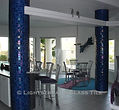 American Made Lightstreams Glass Tile  Renaissance Collection Peacock Blue Tile Interior Tile Columns Wall Tile