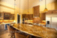 American Made Lightstreams Glass Tile Gold Iridescent Collection Bronze tile / brown tile is used for this kitchen backsplash tile. Can also be used for pool tile, fountain tile, fire pit tile, wall tile, waterline tile, step marker tile, exterior tile, interior tile, accent tile, iridescent tile, spa tile, kitchen tile, bathroom tile, floor tile, and shower tile