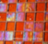 High quality American-made Lightstreams Renaissance Collection Root Beer glass tiles are rich brown in color.  There are beautiful rainbow iridescent colors on the reverse textured side of the tile. American made Lightstreams Glass Tile is used for pool tile, spa tile, waterline tile, step marker tile, accent tile, wall tile, fountain tile, floor tile, bathroom tile, shower tile, kitchen tile, and kitchen backsplash tile.
