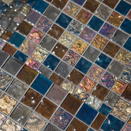Gold Iridescent Collection Glass Field Tiles