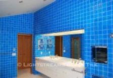 American Made Lightstreams Glass Tile  Renaissance Collection Turquoise Blue Glass Bathroom Tile, Wall Tile, & Shower Tile