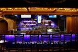 American Made Lightstreams Glass Tile  Renaissance Collection Intense Blue Tile Commercial Bar Iridescent Wall Tile