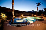 American made Lightstreams Glass Tile Gold Iridescent Collection Bronze tile for pool tile, spa tile and waterline tile