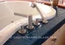 American Made Lightstreams Glass Tile Glass Bathroom Tile and Shower Tile