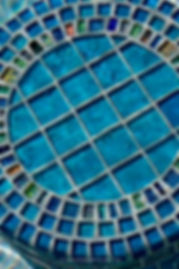 American Made Lightstreams Glass Tile swimming pool barstools and bar accented with strands of Jewel Inlays glass accent tiles also used for accent tile, pool tile, step marker tile, spa tile, waterline tile, bathroom tile, floor tile, kitchen tile, backsplash tile, wall tile, and fountain tile