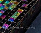 American made Lightstreams Glass Tile all glass tile pool in Renaissance Collection Absolute Black glass pool tile