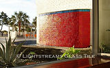 American Made Lightstreams Glass Tile  Glass Fountain Tile & Water Feature Tile Iridescent Tile