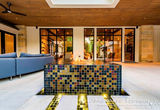 American made Lightstreams Glass Tile Gold Iridescent Collection Silverado, bronze, and steel blue tile as pool tile, waterline tile, spa tile, floor tile, and wall tile