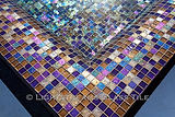 American made Lightstreams Glass Tile  Gold Iridescent Collection Bronze & Renaissance Collection Purple Glass Tile Swimming Pool Waterline and All-Tile Spa tile