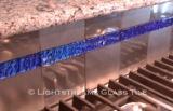 American Made Lightstreams Glass Tile  Galaxy Blue Jewel Glass Accent Tile Kitchen Tile Glass Backsplash Tile