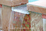 American made Lightstreams Glass Tile  Custom Jewel Glass Waterline Tile  Shell Beach Glass Pool Step Accent Tiles  Renaissance Collection Root Beer Iridescent Glass Fountain Tile  Red River Jewel Glass Accent Tile Spa Spillway Tile pool tile spa tile