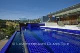 American made Lightstreams Glass Tile all glass tile pool in Renaissance Collection Royal Blue glass pool tiles.