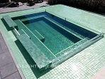 American made Lightstreams Glass Tile all glass tile pool in green tile pool tile