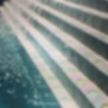 American made Lightstreams Glass Tile white tile walkway made with Lightstreams Glass Tile High Noon Jewel glass accent tiles: also can be used as accent tile for shower tile, backsplash tile, kitchen tile, bathroom tile, floor tile, pool tile, waterline tile, step marker tile, spillway tile, fountain tile, spa tile, and wall tile