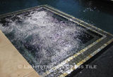 American made Lightstreams Glass Tile Gold Iridescent Collection Silverado grey tile for pool tile, waterline tile, and spa tile