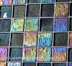 American Made Lightsreams Glass Tile Renaissance Collection II Silver 2.0 - This grey tile / silver tile can also be used for pool tile, spa tile, fountain tile, fire pit tile, wall tile, waterline tile, step marker tile, exterior tile, interior tile, accent tile, iridescent tile, backsplash tile, kitchen tile, bathroom tile, floor tile, and shower tile