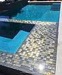 Lightstreams Glass Tile  Gold Iridescent Collection Silverado Glass Spa Tile Grey Tile, waterline tile, pool tile, step marker accent tile