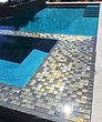 Lightstreams Glass Tile  Gold Iridescent Collection Silverado Glass Spa Tile Grey Tile, waterline tile, pool tile, step marker accent tile