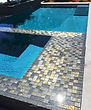 American Made Lightstreams Glass Tile  Gold Iridescent Collection Silverado Glass Spa Tile Grey Tile, waterline tile, pool tile, step marker accent tile