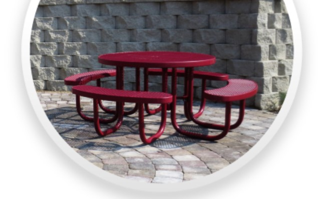 Premier Polysteel Table with seating Ins