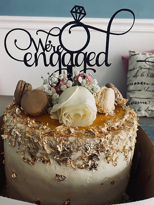 Gold leaf red velvet cake  3 layer
