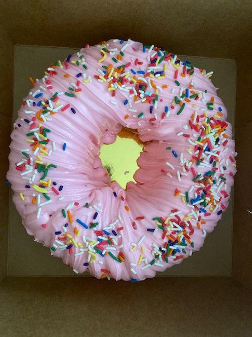 Donut Cake Vanilla Chocolate or Strawberry