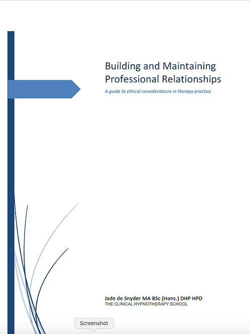 Building and Maintaining Professional Relationships: A guide to ethics