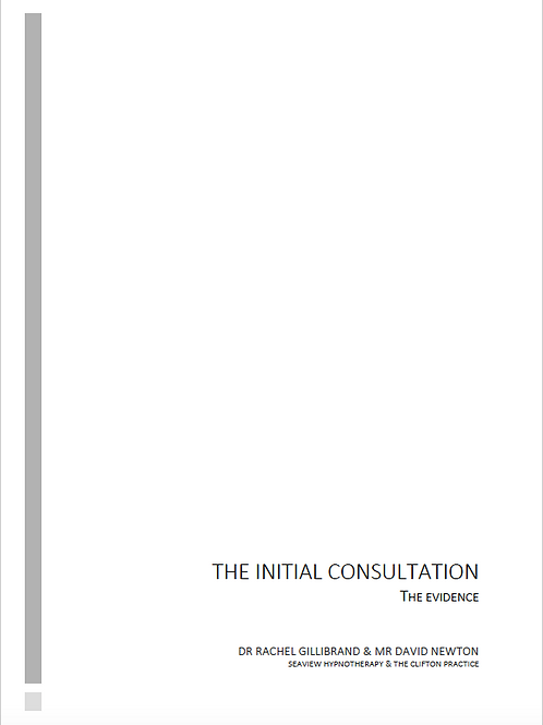 Initial Consultation: evidence based version