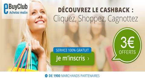eBuyClub-3€-offerts-Code-Promo-CashBack-