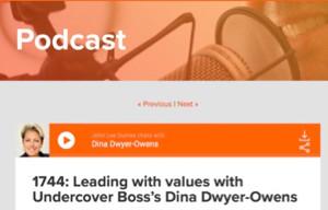 BizComPR client Dina Dwyer-Owens podcast