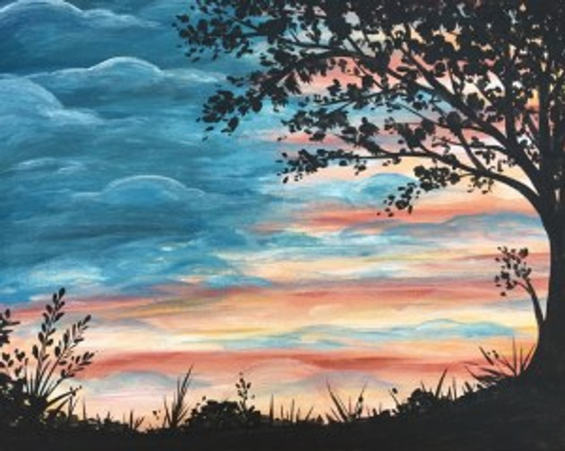 Pinot's Palette Hurricane Harvey Relief Painting